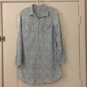Lucky Brand long blue and white dress or tunic